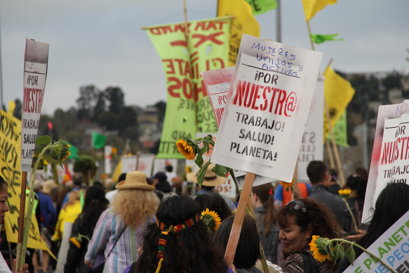 Protesters March On Anniversary of Chevron Disaster