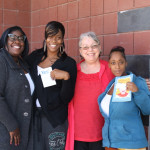 Mayor McLaughlin, For Richmond Dir. Kyra Worthy, and raffle winners