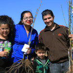 Families were able to take as many fruit trees, vegetable plants, and seeds as they wanted