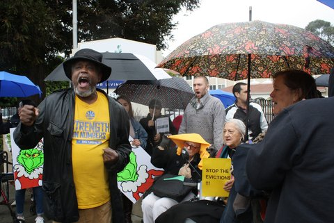 Brookdale Residents Protest Pending Evictions