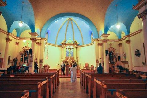 Interior of St. Paul's Catholic Church in Richmond