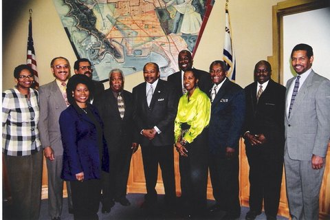 A group of Black men and women who were executive staff members of the city of Richmond