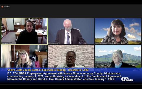 Virtual Board of Supervisors meeting
