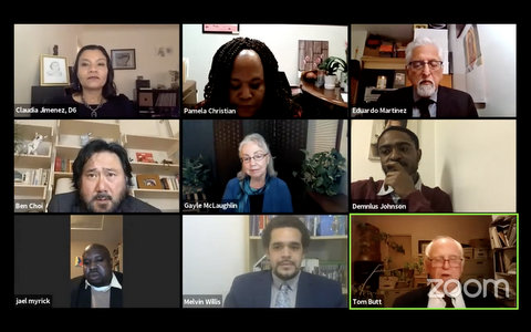 Nine people in meeting on Zoom