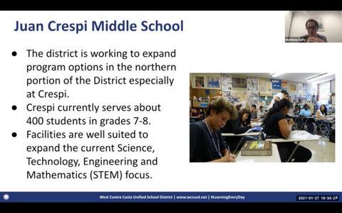 WCCUSD Talks School Configuration Changes