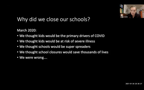 Why did we close our schools? We thought kids would be the primary drivers of COVID, at risk of severe illness, super spreaders. We were wrong.