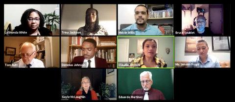Ten people in a virtual meeting